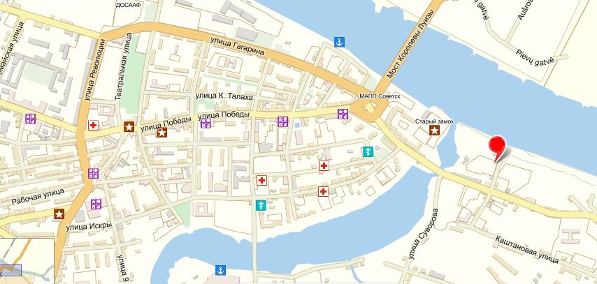 На карте: